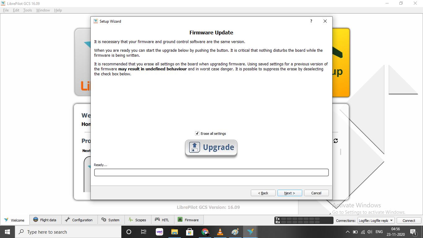 Upload Firmware to CC3d Flight controller