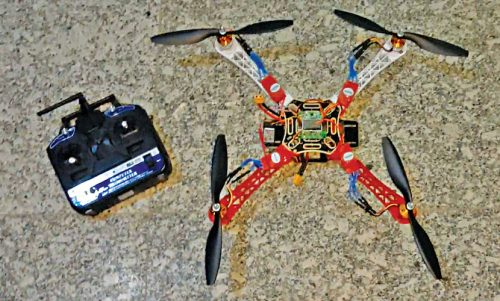 Author's prototype of the quadcopter drone