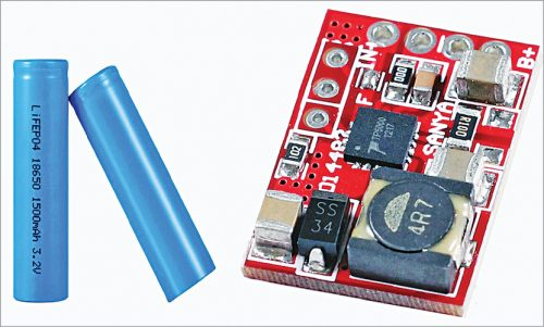LiFePO4 1S battery and TP5000 charger module