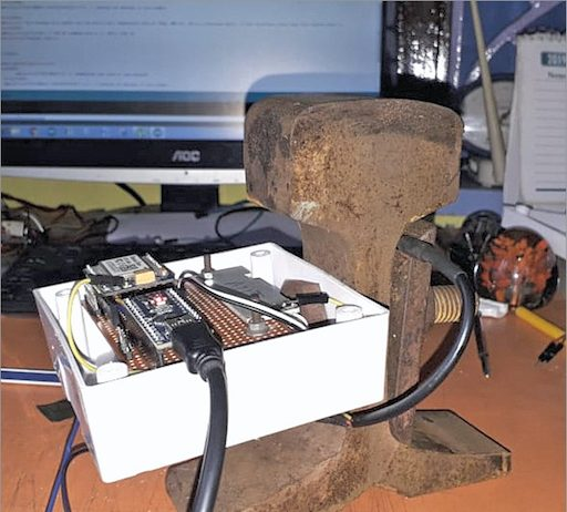 Author's prototype for Rail Track Temperature Monitoring System