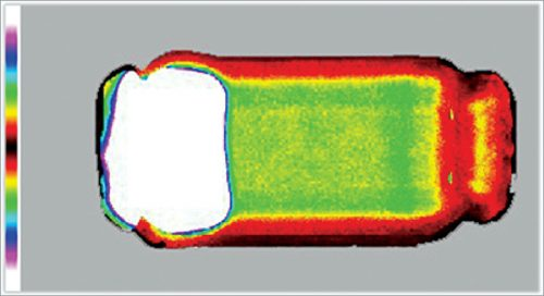 Acoustic image of an MLCC having a large internal delamination