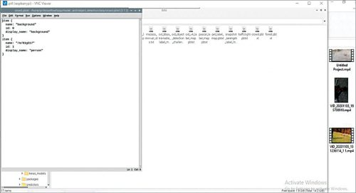 List of names created in .pbtxt file