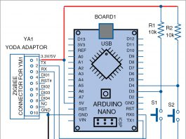 Transmitter circuit for Appliances Control With Yoda Module And Arduino