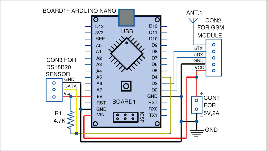 Circuit diagram of the monitoring system