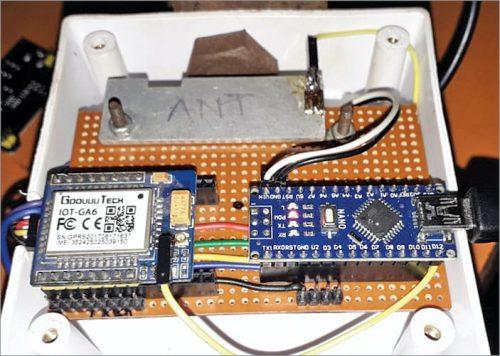 Author's prototype wired on Veroboard