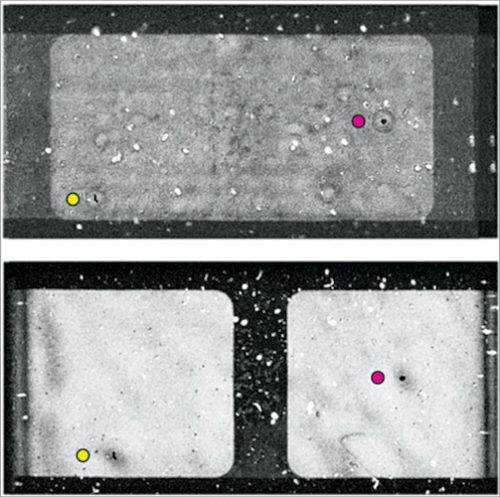 Imaging of gates 3 and 4 in an MLCC