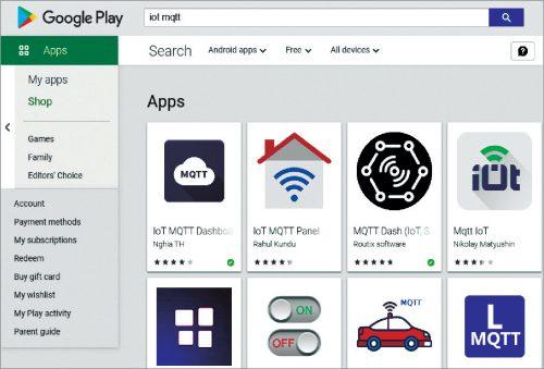 IoT MQTT apps on Google Play Store