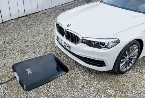 BMW static wireless charging pad for its electric cars