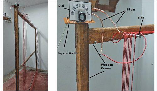 Making of indoor loop antenna