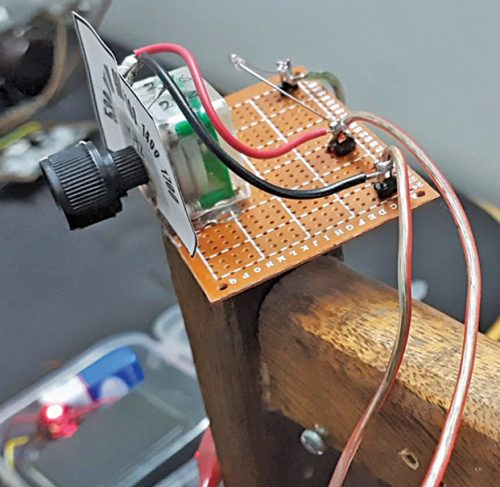 Author's prototype for Crystal radio
