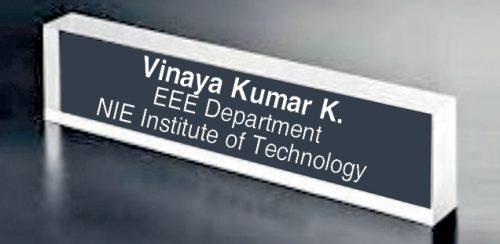 An acrylic LED nameplate