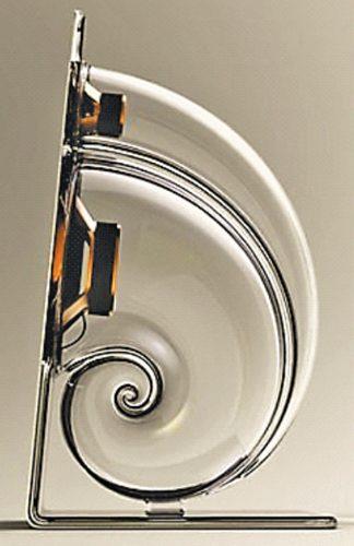 Two-way spiral speaker