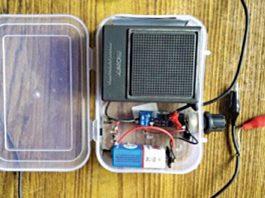 Crystal radio prototype