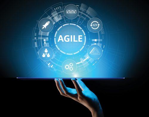 Agile development methodology concept