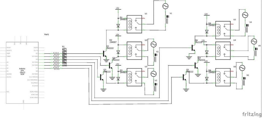 Circuit for Oxygen Concentrator
