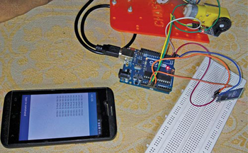 Authors' prototype of the speed monitoring system