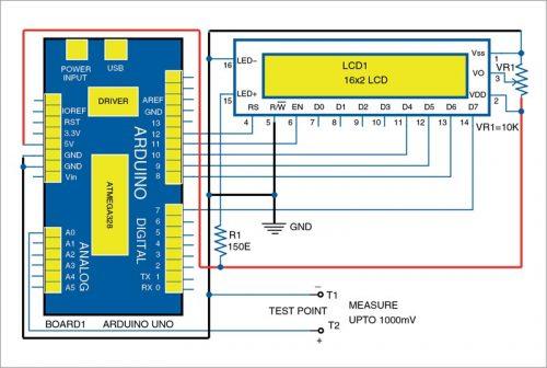 Circuit diagram of millivolt meter