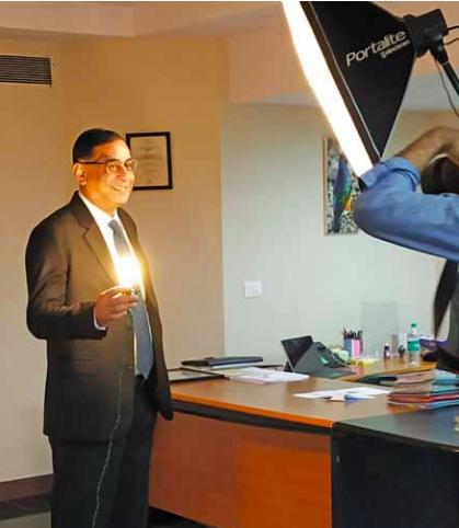 Saurabh Kumar in office