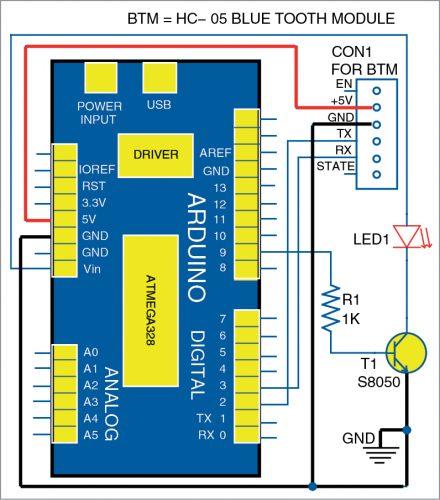 Wiring diagram for the LED desk lamp