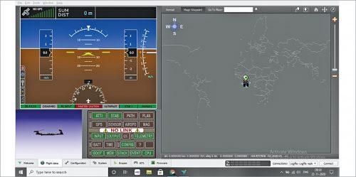 Flight data window