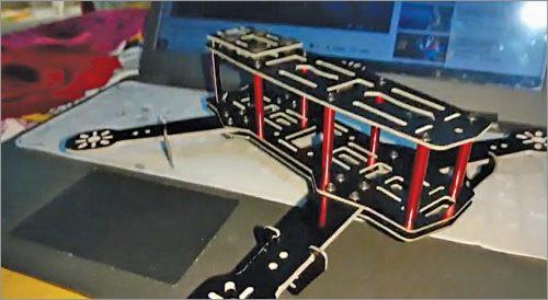 Assembled drone frame