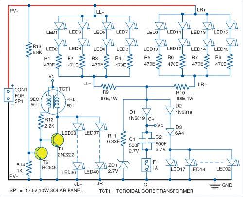 Circuit diagram of pooja lamp