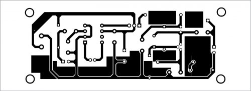 PCB layout for the voice transmitter