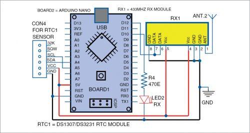 Circuit diagram of remote data receiver