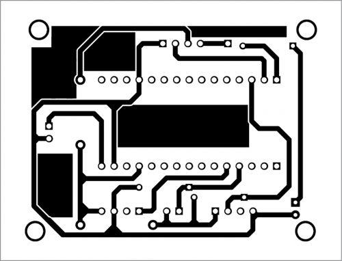 PCB layout for sensor node