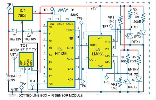 Circuit diagram of transmitter
