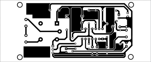 PCB layout for Touchless Doorbell