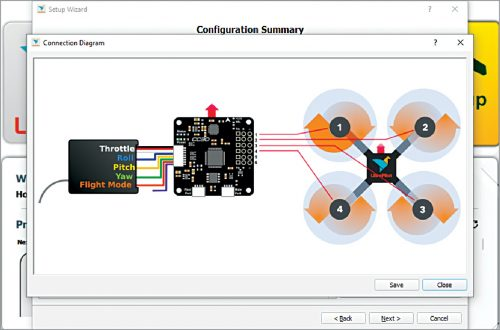 Pin diagram of CC3D flight controller
