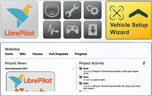 Vehicle Setup Wizard window in LibrePilot