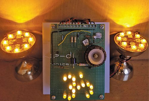 Pooja lamp with daylamp LEDs on