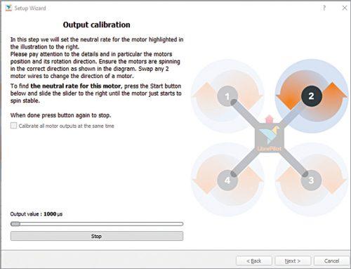 Output calibration window