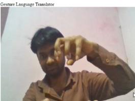 Gesture Language Translator