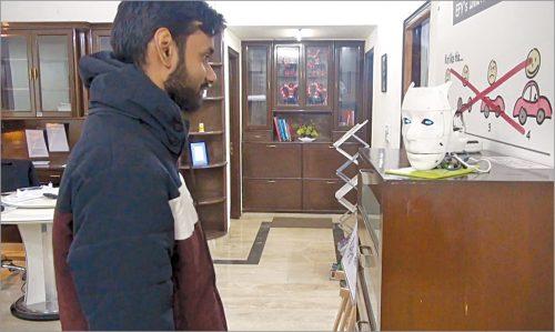 Author's prototype during testing