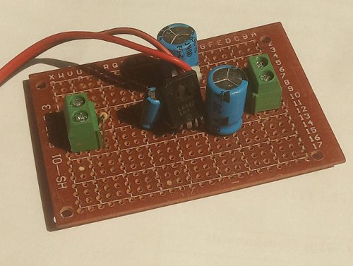 Author's prototype for mono AF amplifier