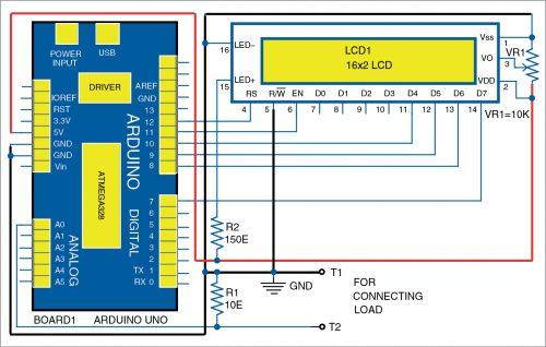 Circuit diagram of milliamp meter