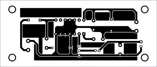 PCB layout for the amplifier circuit