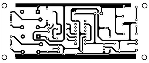 PCB layout for the remote control