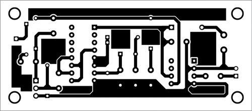 PCB layout of transmitter circuit
