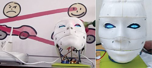 Robot head with OLED eyes