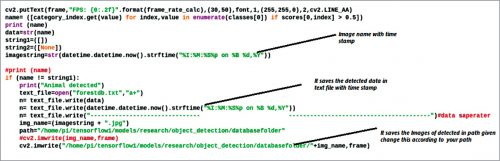 Saving the detected image with timestamp in a defined path folder