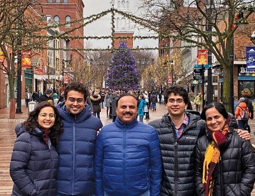 Sanjeev Keskar with family