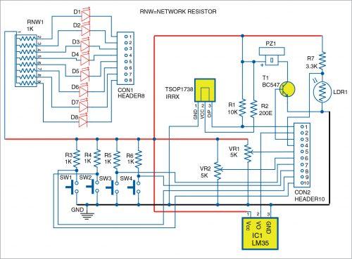 Circuit diagram of DAIO module